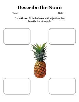 Describe the Pineapple With Adjectives
