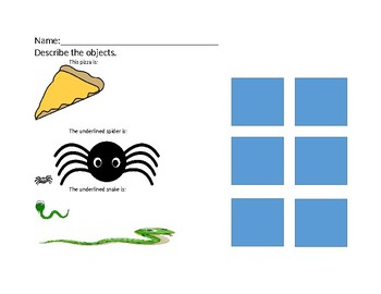 Describe the objects using color, shape, size