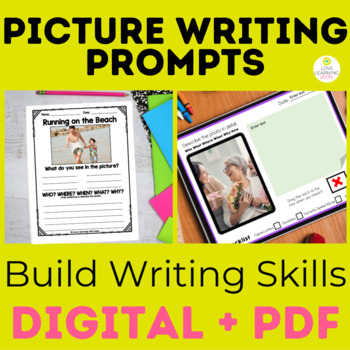 Writing Picture Prompts Vocabulary and Language Building Activity
