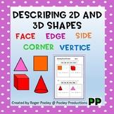 Describing 2D and 3D shapes