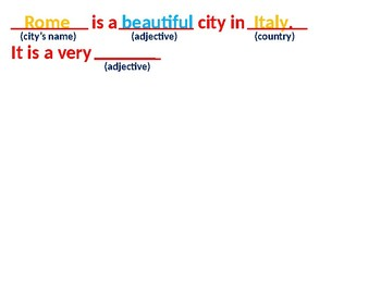 Describing A City - Step by Step - For EFL/ESL Beginners