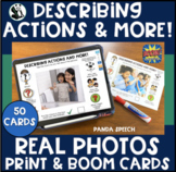 Describing Actions & More Print & Digital Real Photo Cards