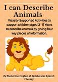 Describing Animals! FREEBIE NO PREP Printables
