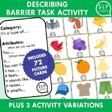 Describing Barrier Task Activity for Speech Therapy