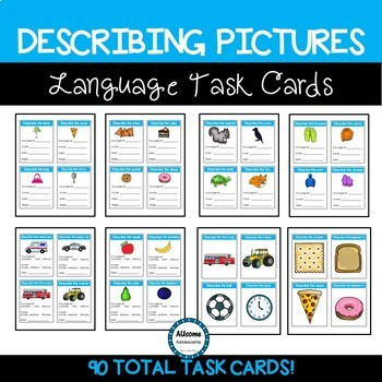 Describing Basic Pictures Language Task Cards (sped/autism) #spedspringsahead