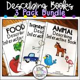 Describing Books Bundle - Food, Animals, Transportation