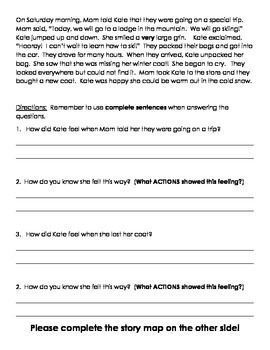 Describing Character Actions/Feelings and Retelling