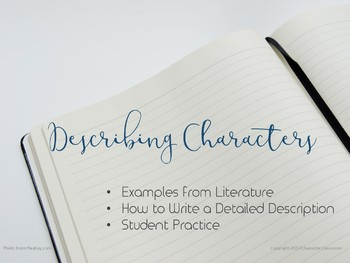 Describing Character - Analyzing Literary Characters to Improve Student Writing