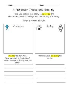 Describing Character and Setting Bundle
