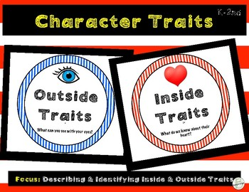 Character Traits: Describing Characters- Inside/Outside (Primary K-2)