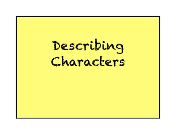 Describing Characters Task Cards