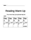 Describing Characters (strategy- visualization) Reading Warm Up