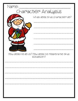 Describing Christmas Characters {First Grade - Fifth Grade}