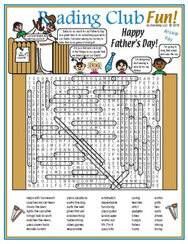 Describing Dad (Father's Day) Word Search Puzzle