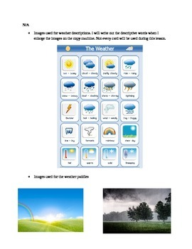 Describing Different Types of Weather