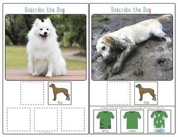 Describing Dogs with 2 MLU: Adjective + Noun (Interactive Book)