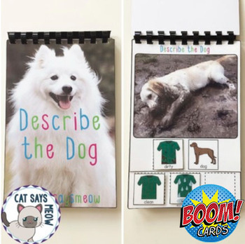 Describing Dogs with 2 MLU: Adjective + Noun (Interactive Book)
