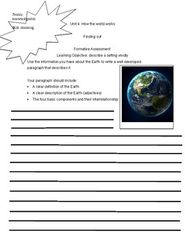 Describing Earth and Identifying Natural Disasters
