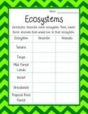 Describing Ecosystems *Freebie!*