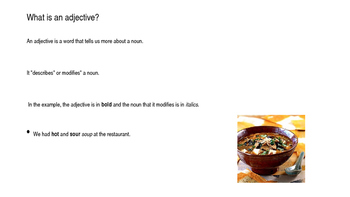 Describing Food ESL Activity