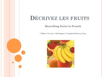 Describing Fruits in French Lesson