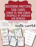 Describing Functions Task Cards: Linear vs. Non-Linear & I