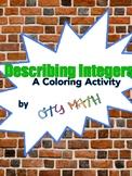 Describing Integers Coloring Sheets