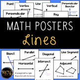 Describing Lines and Line Segments Geometry Vocabulary Posters for Middle School
