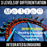 Motion {Differentiated Close Reading Passages}
