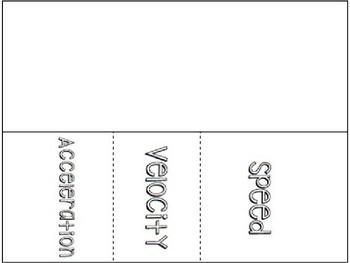 Describing Motion- Speed, Velocity, & Acceleration Notes