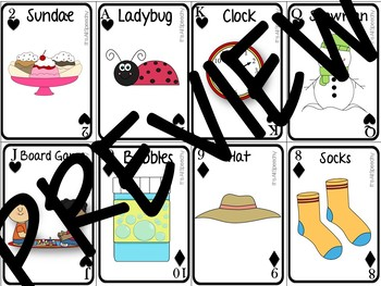 Describing Nouns Playing Cards Deck: Descriptive langauge