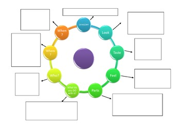 Describing Objects Graphic Organizer for Speech Language Therapy & ELA