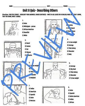 Describing Others ASL Quiz