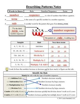 Describing Patterns Notes