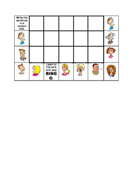 Describing People Create-a-Bingo
