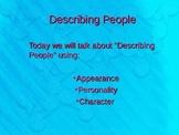 Describing People Fun Activity