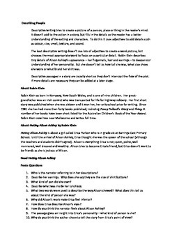 Grade 7/8 English - Describing People Lesson Plan
