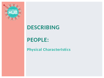 Describing People Slideshow  (Adult ESL)