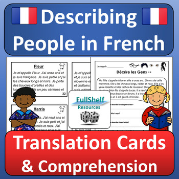 Describing People in French (Physical and Personality Descriptions) Activities