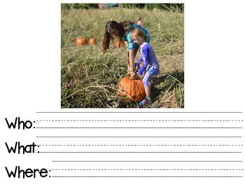 Describing Pictures Expressive/Receptive Writing Task- FALL
