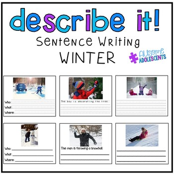 Describing Pictures Expressive/Receptive Writing Task- WINTER