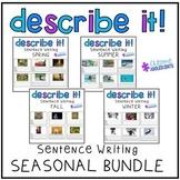 Describing Pictures Writing Sentences- Seasonal Bundle
