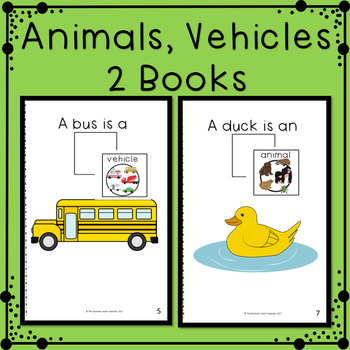 Describing Pictures by Category Adapted Books for Special Education Speech
