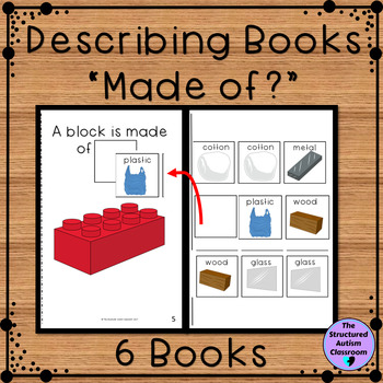 "Describing Pictures by ""What it's Made of"" Adapted Books for Special Education"