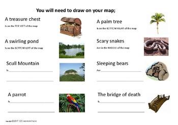 Describing Position Treasure Map