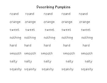Describing Pumpkins