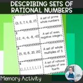 Describing Rational Numbers Memory TEKS 7.2a