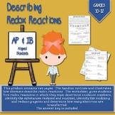 Describing Redox Reactions Handout and Worksheet