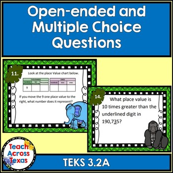 3.2B Describing Relationships in Place Value Computation Task Cards-STAAR