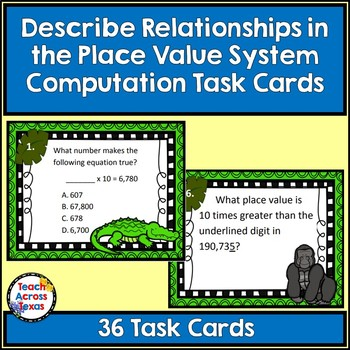 Describing Relationships in Place Value Computation Task C